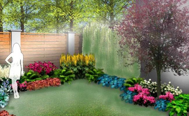 """Gotowy projekt ogrodu - """"Zielony Taras"""". Zestaw (Projekt + 60 sadzonek)"""