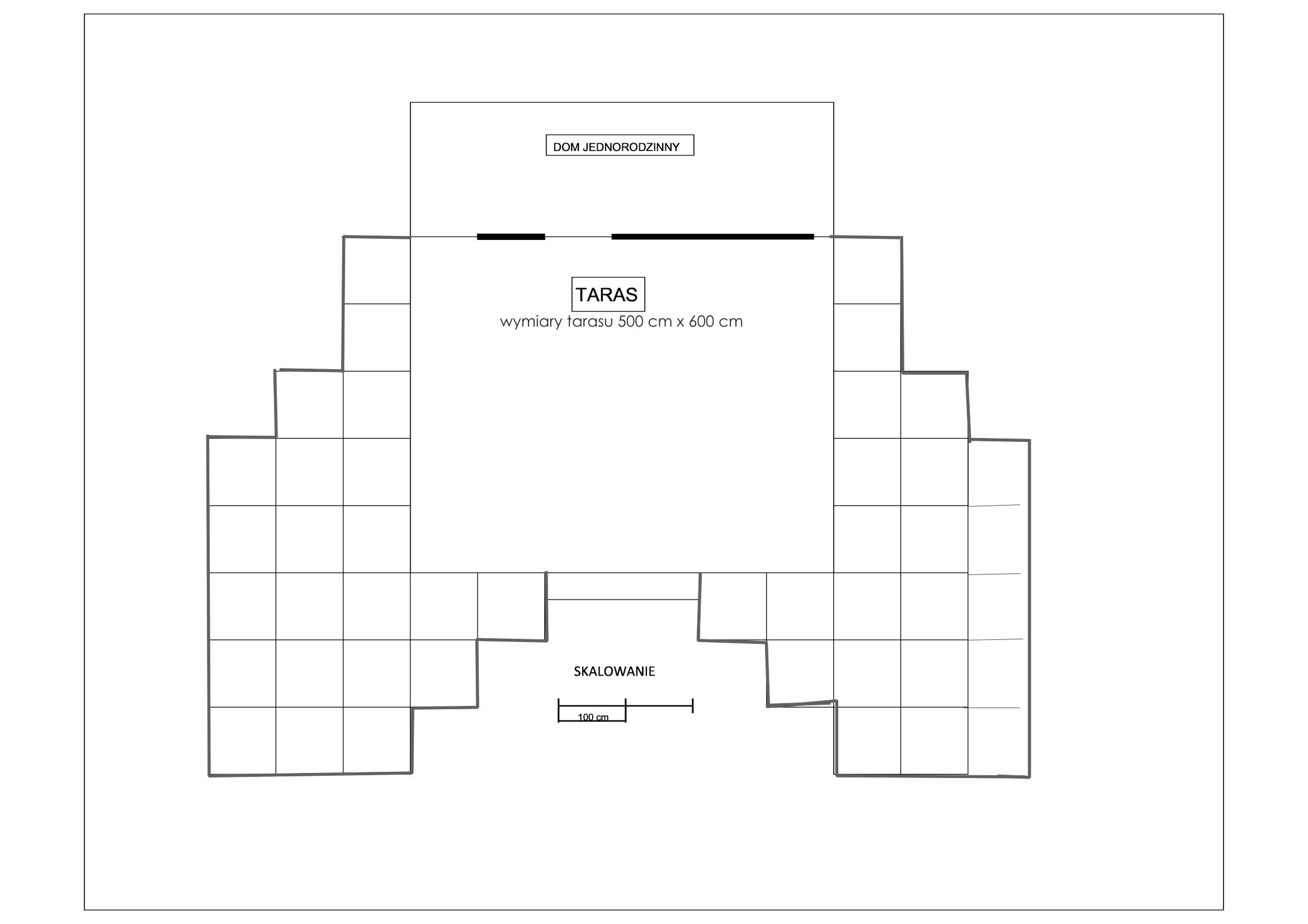 Geometryczny ogród przy tarasie