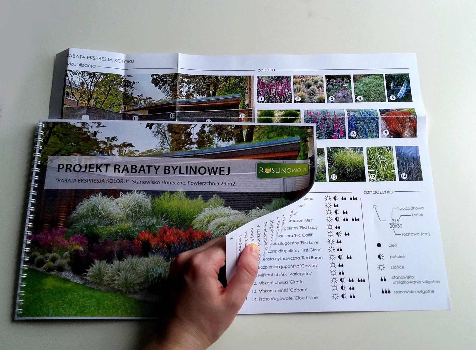 wydrukowany projekt rabaty - ekspresja koloru