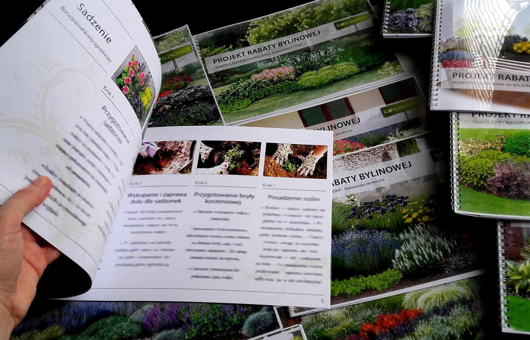 instrukcja roslinowo - jak sadzić byliny na rabacie