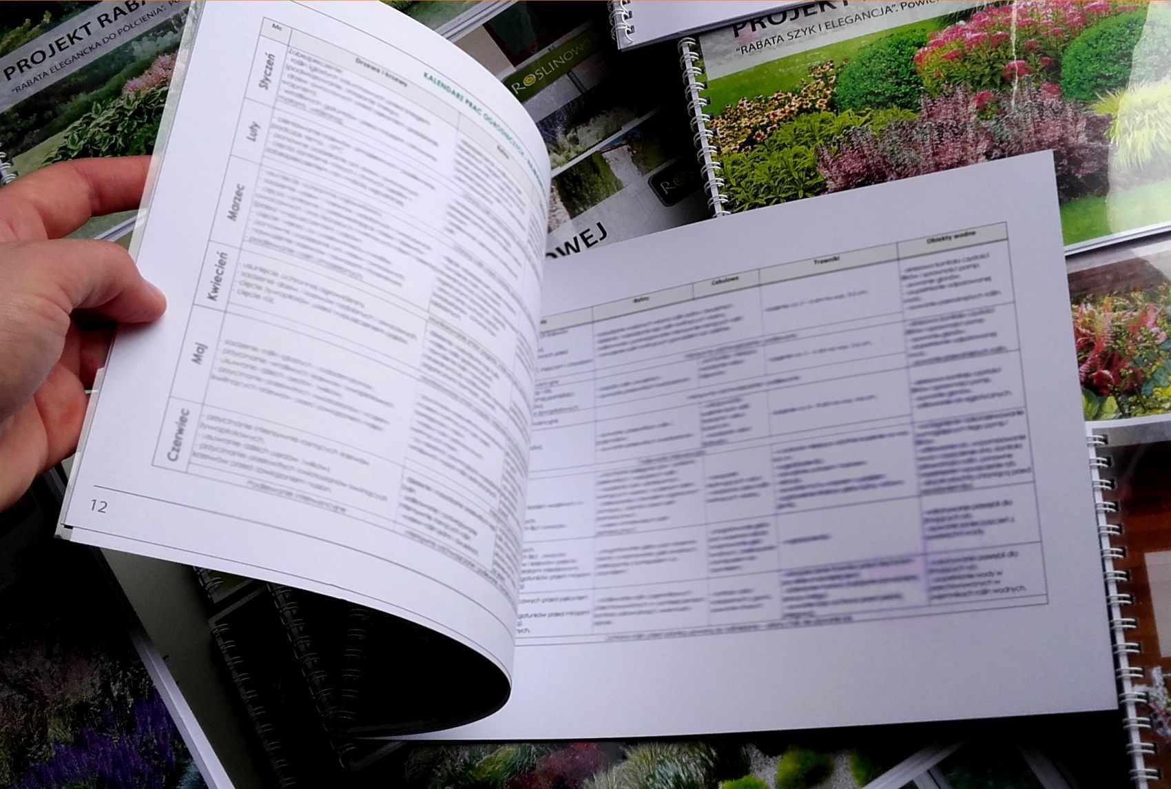 kalendarz prac ogrodniczych