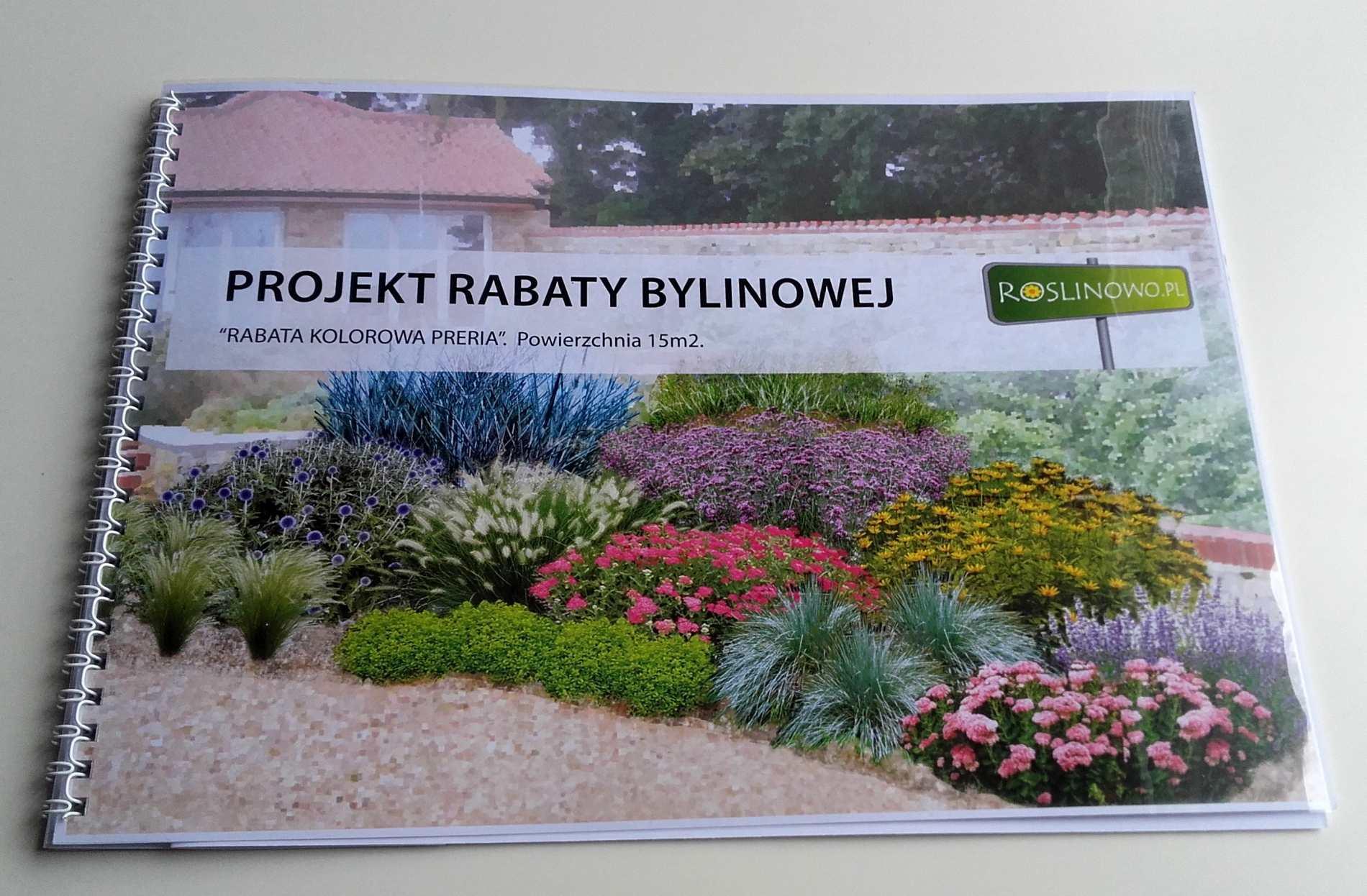 gotowy projekt rabaty bylinowej - kolorowa preria