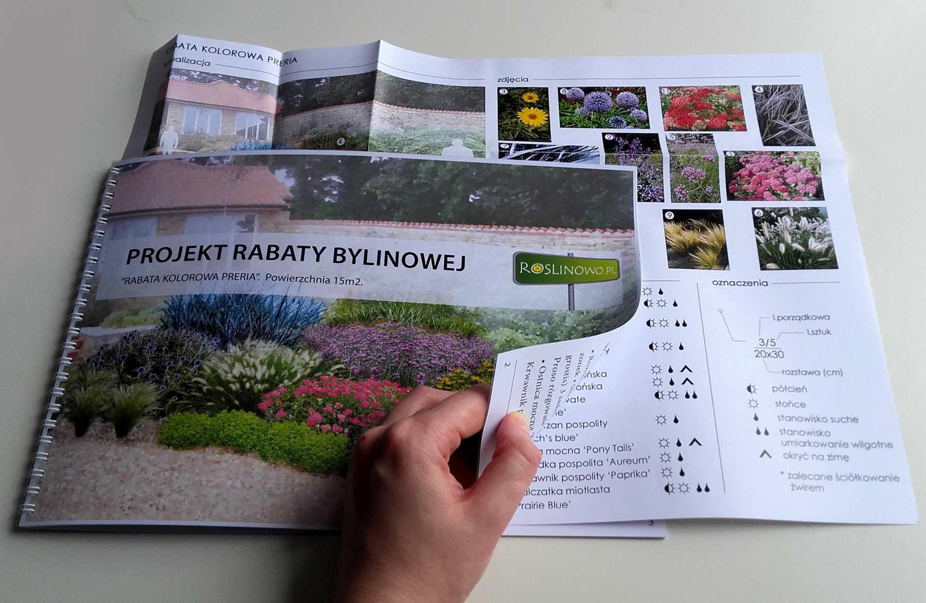 wydrukowany projekt rabaty kolorowa preria