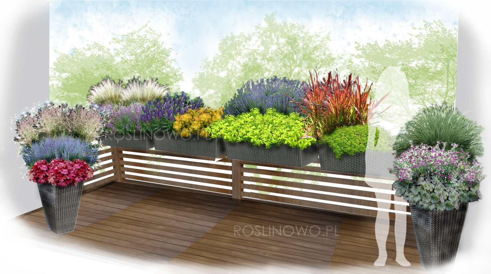 Wizualizacja - kompozycja na balkon