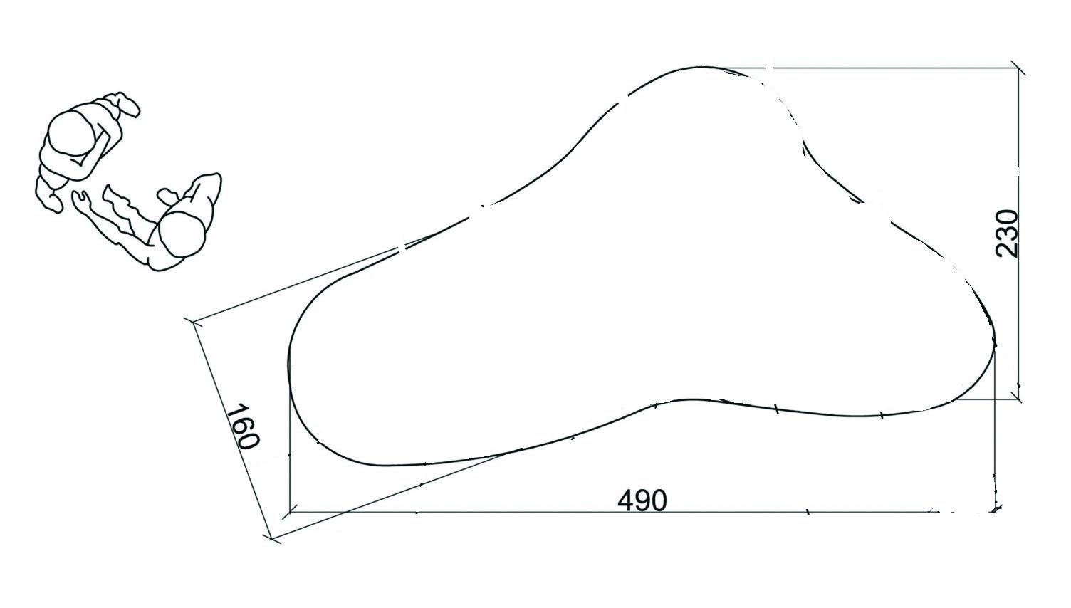 Wymiary i kształt rabaty paprociowej
