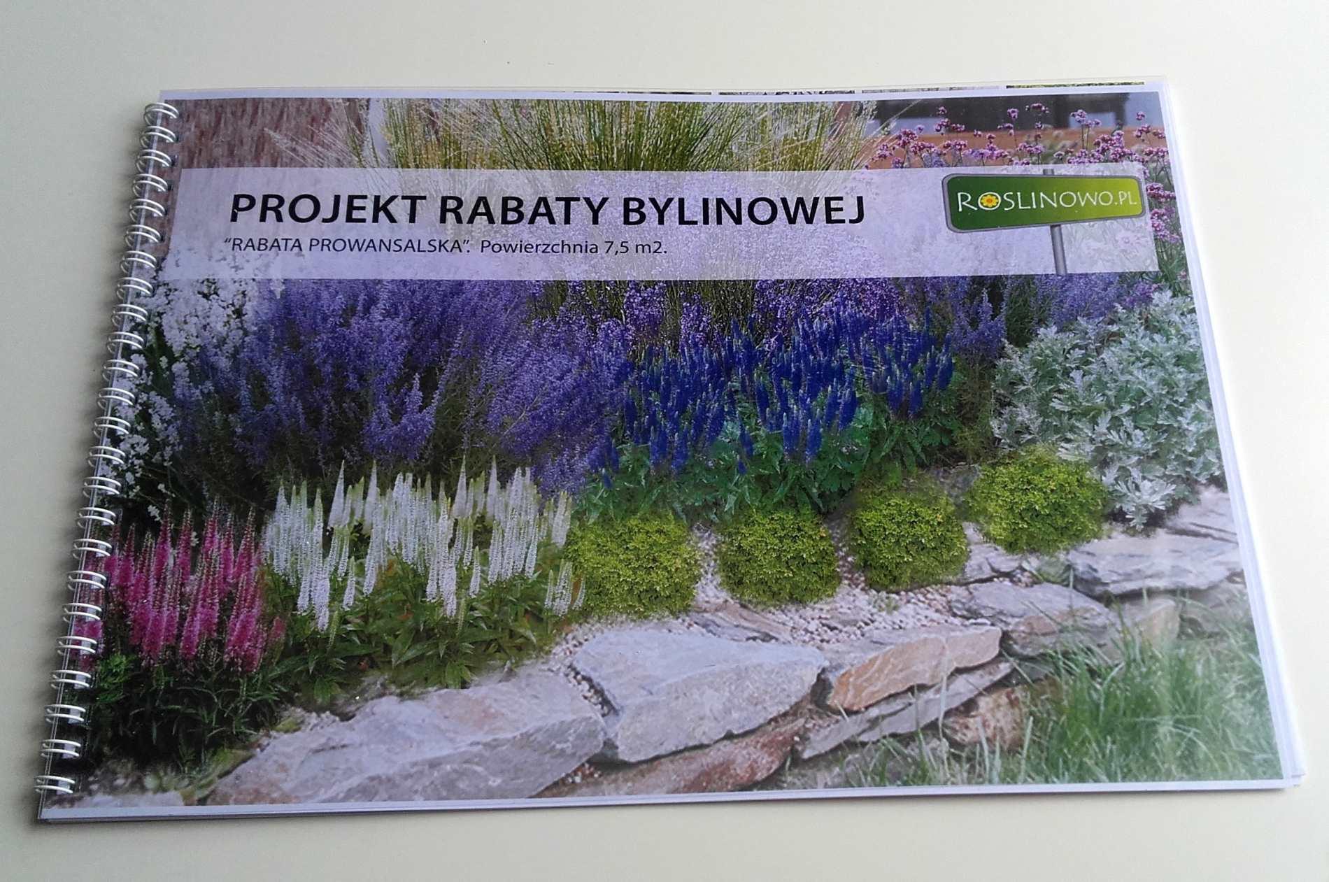 Okładka wydrukowanego projektu rabaty prowansalskiej.